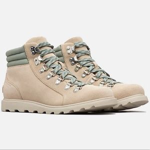NWT Sorel Ainsley Conquest Lace-up Boot oatmeal